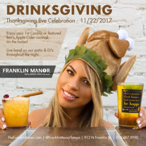 Drinksgiving @ Franklin Manor | Tampa | Florida | United States