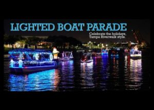 Tampa Riverwalk Holiday Boat Parade of Lights @ Tampa Riverwalk